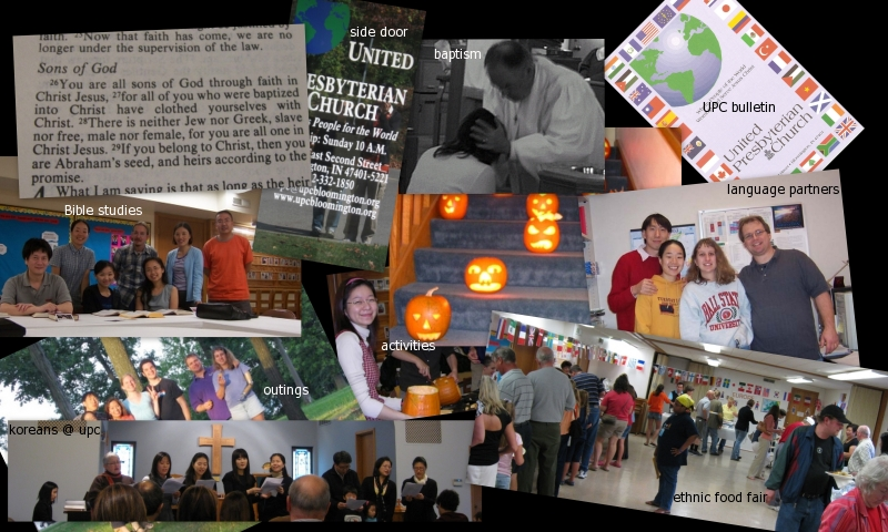 Collage of international activities